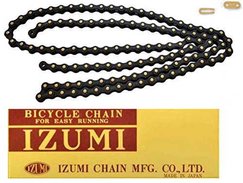 IZUMI BICYCLE CHAIN 1/2X1/8 JET-BLACK/BLACK (Jetblack Cycling compare prices)