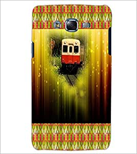 PrintDhaba Train D-4606 Back Case Cover for SAMSUNG GALAXY ON 7 (Multi-Coloured)