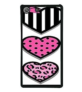 PrintVisa SONM5-Cute Hearts Art Metal Back Cover for Sony Xperia M5 Dual E5633 E5643 E5663, Sony Xperia M5 E5603 E5606 E5653