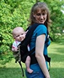 Breezy Mesh Backpack baby carrier(Black w/mocha head support)