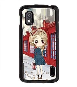 Vizagbeats Girl with HandBag Back Case Cover for LG NEXUS 4 E960