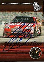 Tony Stewart Signed 2009 Press Pass Acceleration NASCAR Trading Card - Autographed NASCAR Cards