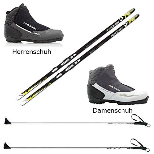 Langlaufski-Set Fischer Orbiter NIS + Bindung + Stöcke + Schuhe Cruiser Cruising
