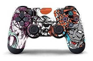 PS4 Controller Designer Skin for Sony PlayStation 4 DualShock Wireless Controller Tsunami