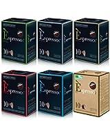 Pack Decouverte 60 Capsules Espresso Vergnano Compatibles Nespresso®
