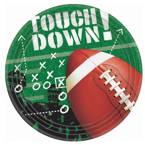 "Football Frenzy 7"" Dessert Plates 50ct"