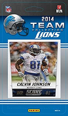 Detroit Lions 2014 Score NFL Football Factory Sealed 12 Card Team Set with Matthew Stafford, Calvin Johnson, Eric Ebron Plus