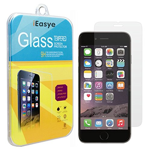 """iPhone 6 Screen Protector, iEasye [Tempered Glass Protection] Real 9H iPhone 6 4.7"""" Premium Ballistic Nano 0.29mm Tempered Glass Screen Protector, 2.5D Curved Edge Ultra Slim Guard For Apple iPhone 6 4.7 Inch Release on 2014 (4.7 inch)"""