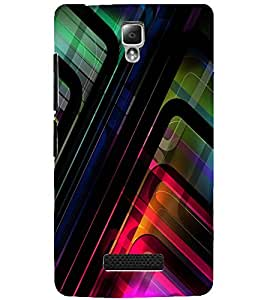 PrintDhaba LINES PATTERN D-6409 Back Case Cover for LENOVO A2010 (Multi-Coloured)