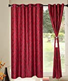Kings Polycotton 1pcs Red Floral Window Curtains