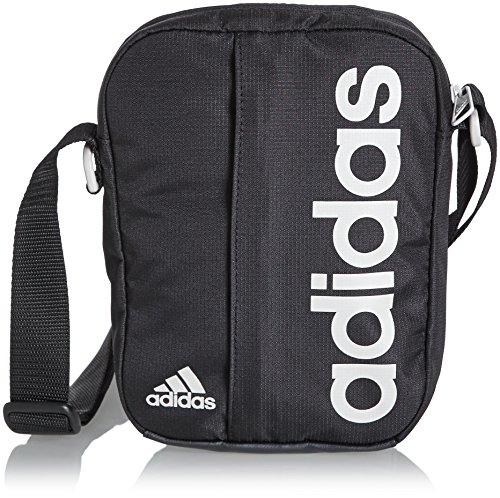 Adidas, Borsa a tracolla Basic Lin, Nero (Black/Peagre), 30 x 30 x 30 cm
