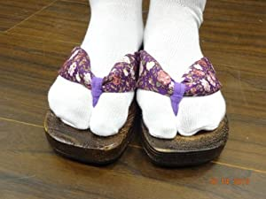 Clogs and Socks for Japanese Anime Inuyasha Psychic Kikyo Kimono Cosplay Costume American Size 6.5