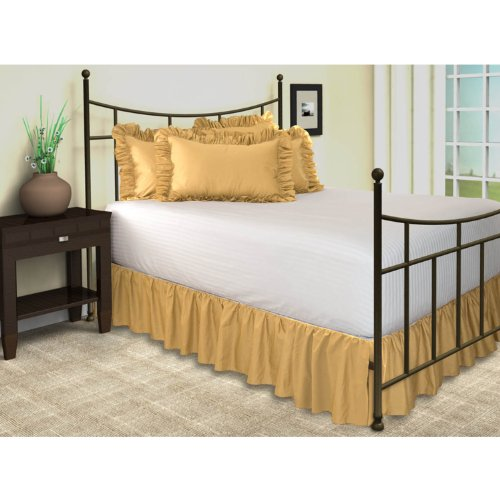 Gold Bed Skirt back-794022