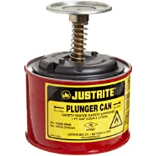 Justrite Steel Plunger Safety Can