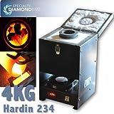 HARDIN-234-4 1.7 KW 4KG (142oz) Melting Furnace For Gold Silver Bar Casting & Scrap Recycling
