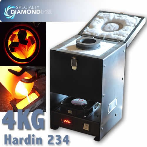 Hardin 234 4Kg Graphite Crucible 1.7 Kw Industrial Metallurgical Melting Furnace For Precious Metal Melting