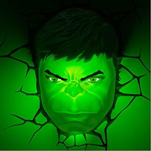 Hulk Face 3d Deco Superhero Wall Night Light