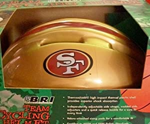San Francisco 49ers Youth Team Bike Helmet by BRI