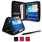 rooCASE Samsung GALAXY Tab 3 10.1 GT-P5210 Executive Portfolio Case Cover - Black (with Pen Stylus)