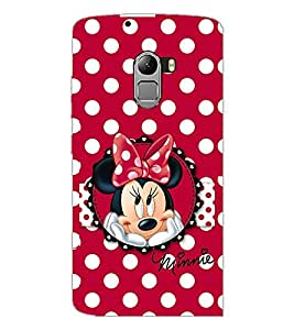 PrintDhaba Minnie Mouse D-2211 Back Case Cover for LENOVO VIBE X3 c78 (Multi-Coloured)