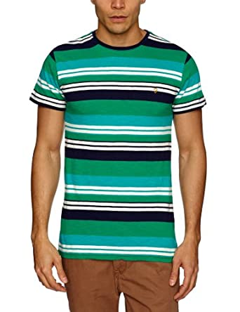 Farah Vintage The Brook Patterned Men's T-Shirt Bottle Green Medium