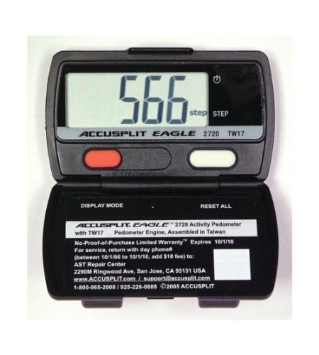 Sportime 025538 Pedometer Accusplit AE 2720 Set of 12