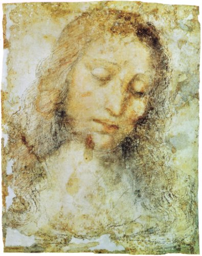 "Head Of Christ By Leonardo Da Vinci Canvas Wall Art , Gallery Wrapped Canvas Print - Ready To Hang On Wall 20H X 16W"" front-1073797"