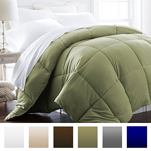 Beckham-Hotel-Collection-Lightweight-Luxury-Goose-Down-Alternative-Comforter-Hypoallergenic-TwinTwin-XL-SageSolid