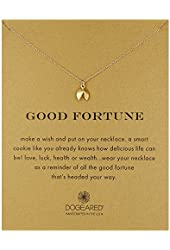 """Dogeared Good Fortune Reminder Chain Necklace, 18"""""""