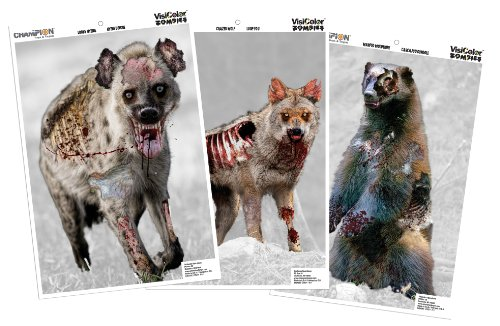 Champion Visicolor Zombie Vicious Animal Target (Pack of 6, 12x18) (Archery Zombie Target compare prices)
