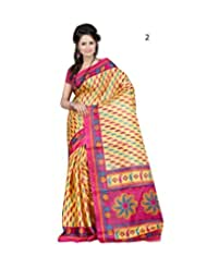 Daily Wear Yellow Striped Cotton Saree