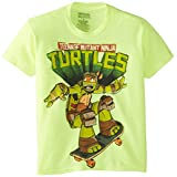 Teenage Mutant Ninja Turtles Big Boys' Cowanbunga T-Shirt Shirt, Safety Green, X-Large/ 18