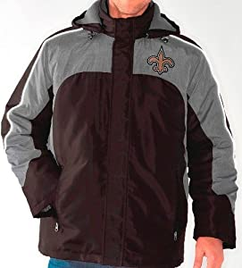 New Orleans Saints NFL Defense Systems 3-in-1 Heavyweight Performance Jacket by G-III Sports