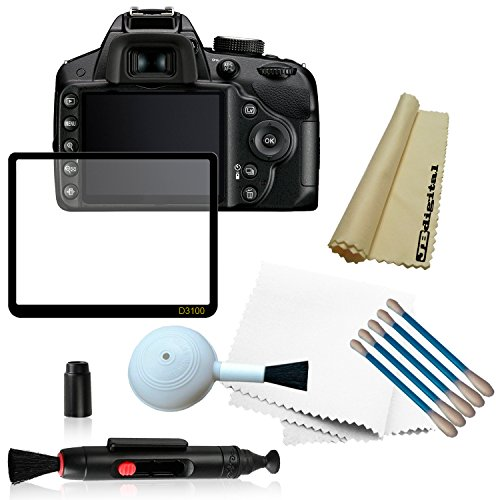 Lcd Screen Protector For Nikon D3100 Digital Slr Camera + Deluxe Cleaning Kit (High Quality Blower Brush + 5 Cotton Swabs + Soft Microfiber Cleaning Cloth) + Lens Cleaning Pen System + Jb Digital Microfiber Lens Cleaning Cloth