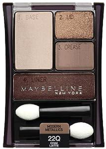Maybelline New York Expert Wear Eyeshadow Quads, Chai Latte 22q, 0.17 Ounce