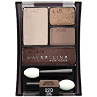 Maybelline New York Expert Wear Eyeshadow Quads, Chai Latte 22q, 0.17 Ounce