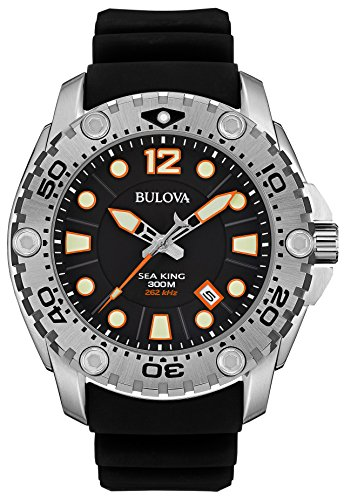 bulova-sea-king-mens-quartz-watch-with-black-dial-analogue-display-and-black-rubber-strap