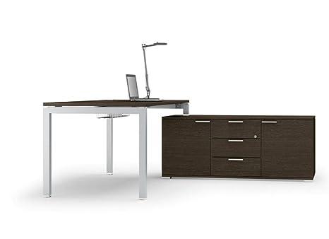 Schreibtisch mit Sideboard Gate, Chef Schreibtisch, Chefburo, hochwertige Burommöbel
