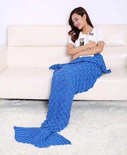 WEISHENMEN Mermaid coperta pesce maglia coda coperta divano coperta d'aria - condizionata dimensione coperta: 190X90cm BULAIDANZI