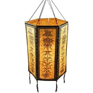 unique floor lamps rice paper hanging lamp shade hexagonal ricerice lights paper. Black Bedroom Furniture Sets. Home Design Ideas