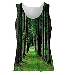 Snoogg Walking Way In Forest Womens Tunic Casual Beach Fitness Vests Tank Tops Sleeveless T shirts