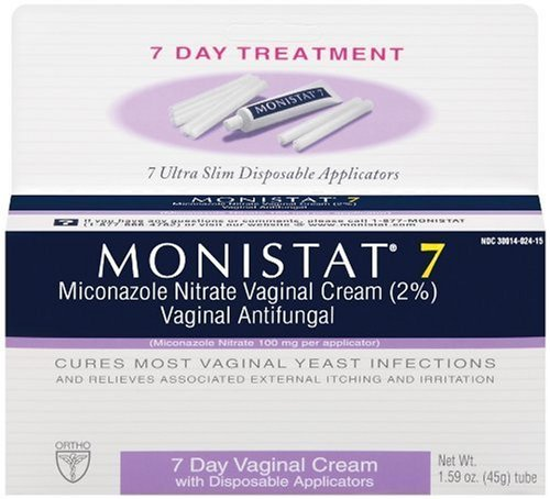 Monistat 7 Vaginal Antifungal Cream with Disposable Applicators, 1.59-Ounce Tube