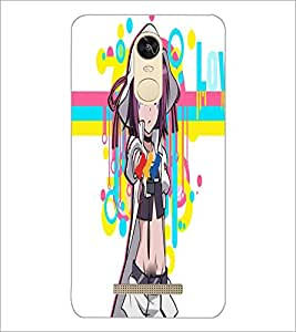 PrintDhaba Bold Girl D-3964 Back Case Cover for XIAOMI REDMI NOTE 3 (Multi-Coloured)
