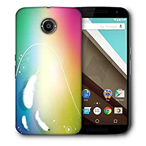 Snoogg White Feather Designer Protective Phone Back Case Cover For Motorola Nexus 6