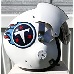 Tennessee Titans Fighter Pilot Helmet - NFL Football USAF Air Force Johnson by Tennessee Titans