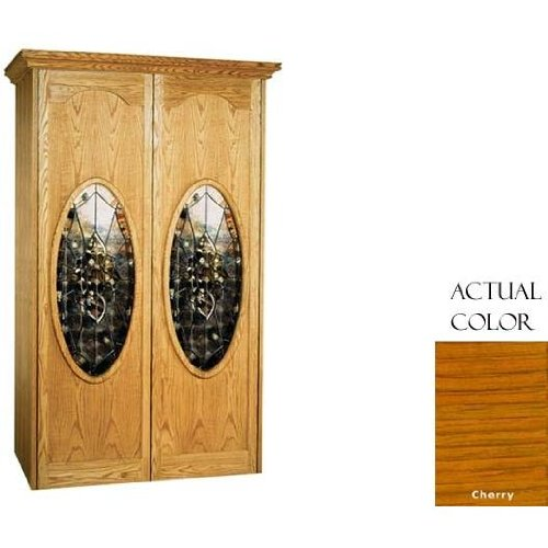 Vinotemp Home Kitchen Restaurant Cocktail Party Napoleon 700-Model Wine Cabinet With 2 Oval Beveled Glass Doors