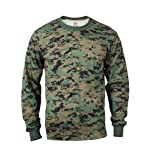 Woodland Digital Camouflage Long Sleeve T-shirt by Rothco
