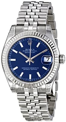 Rolex Datejust Blue Dial Automatic Stainless Steel Ladies Watch 178274BLSJ