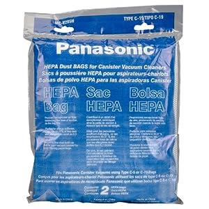 Panasonic MC-V295H 2-Pack Type C-19 Canister HEPA Vacuum Bag