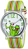 Muppets Women's MU1010 Kermit the Frog Dial Multi-colored Stripe Grosgrain Strap Watch
